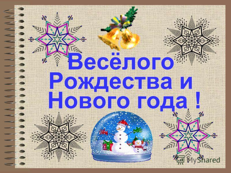 Весёлого Рождества и Нового года !