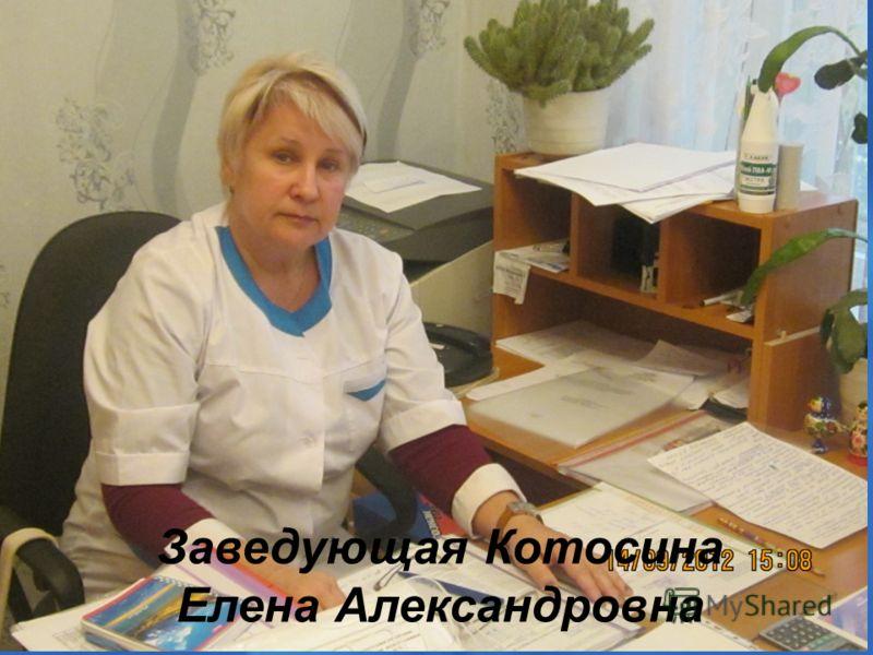 Заведующая Котосина Елена Александровна