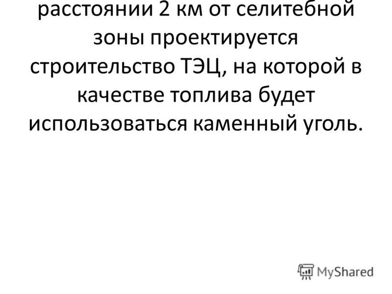 В равнинной части Свердловской области в районе станции Н на расстоянии 2 км от селитебной зоны проектируется строительство ТЭЦ, на которой в качестве топлива будет использоваться каменный уголь.
