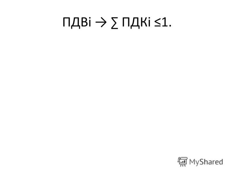 ПДВi ПДКi 1.