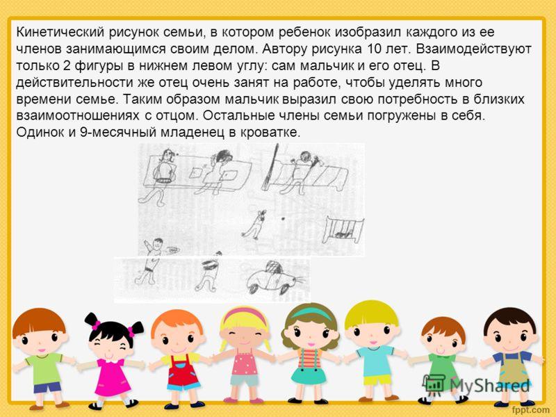 Кинетический рисунок семьи на примере