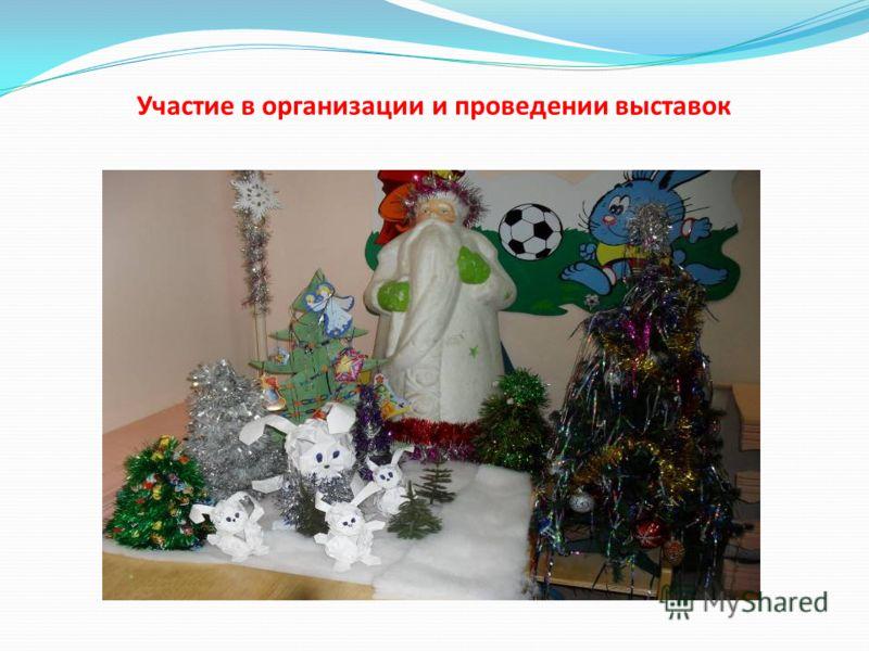 Участие в организации и проведении выставок