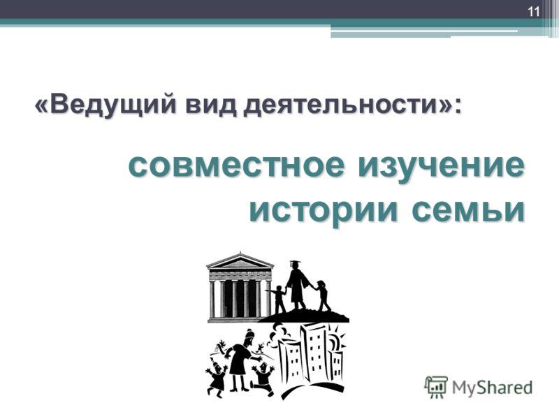 «Ведущий вид деятельности»: совместное изучение истории семьи 11