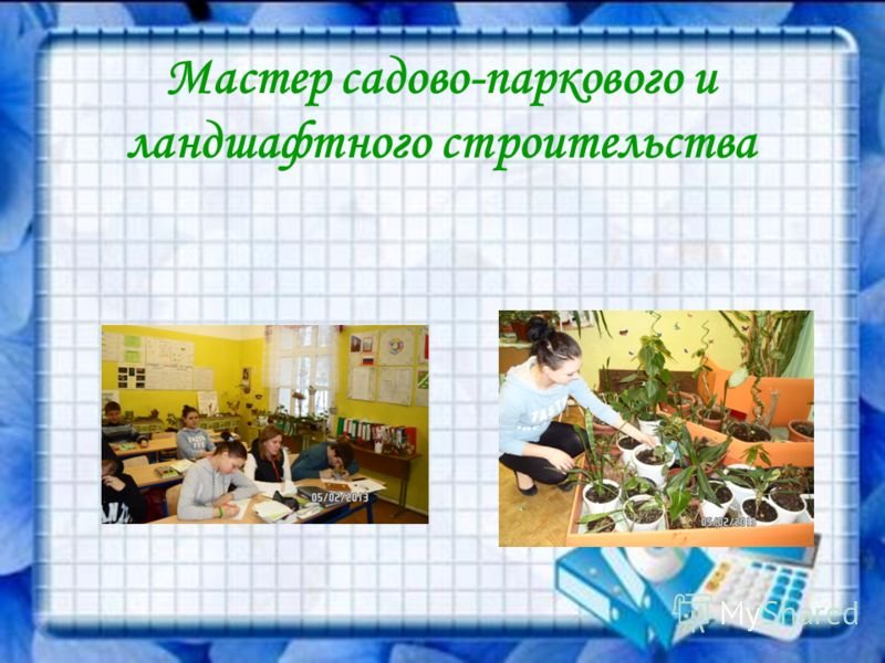 Мастер садово-паркового и ландшафтного строительства