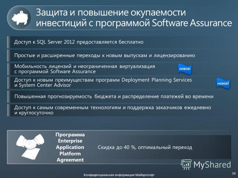 Конфиденциальная информация Майкрософт 19