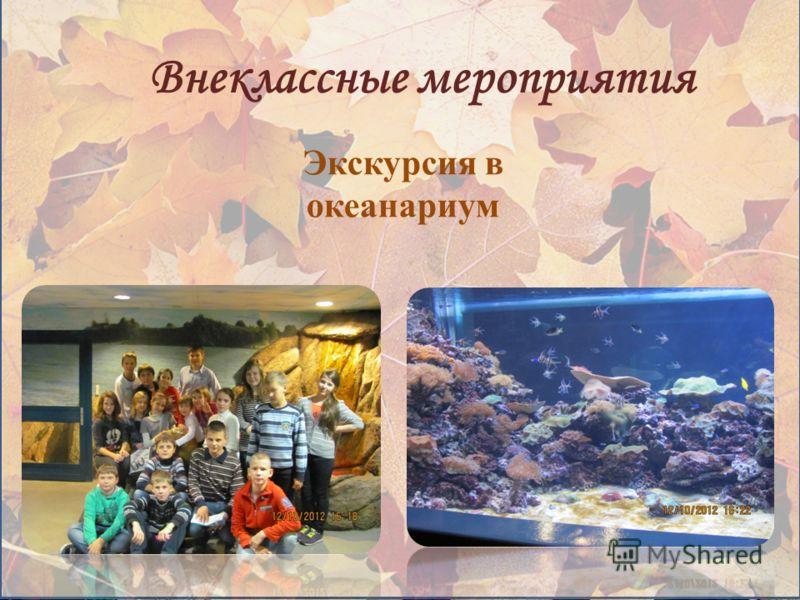 Внеклассные мероприятия Экскурсия в океанариум
