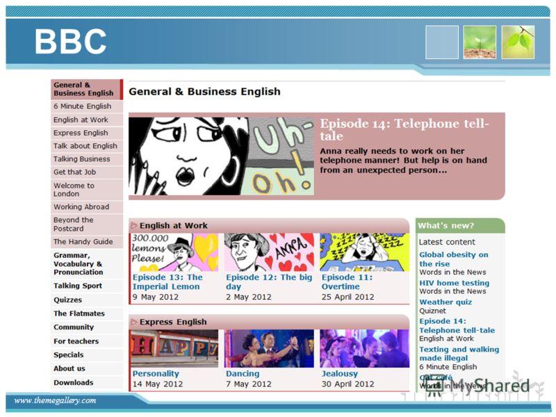 www.themegallery.com BBC