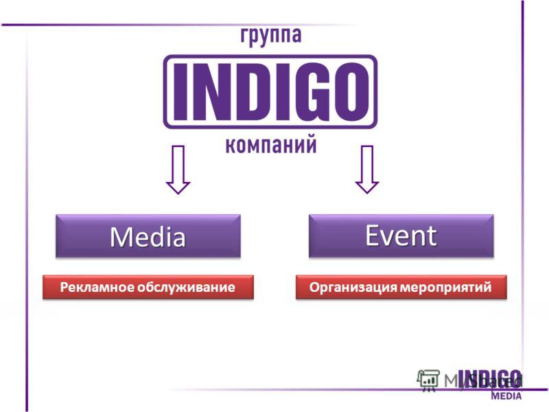 EventEventMediaMedia Организация мероприятий Рекламное обслуживание