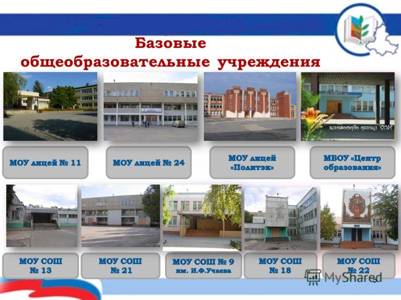 Базовые общеобразовательные учреждения 5
