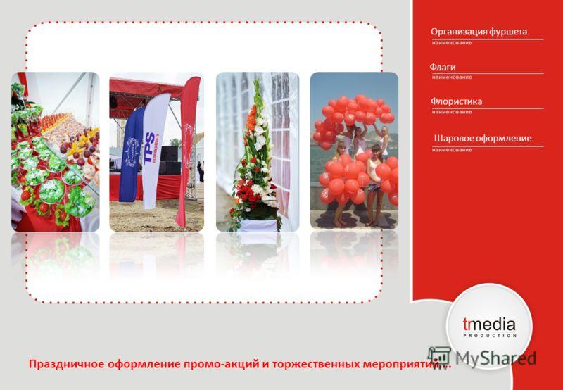 Организация фуршета Флаги Флористика Шаровое оформление