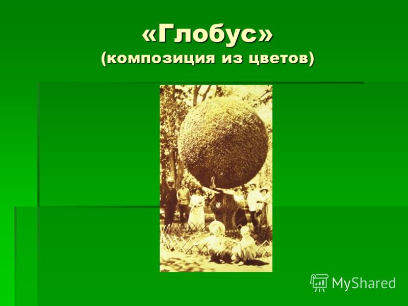 «Глобус» (композиция из цветов)