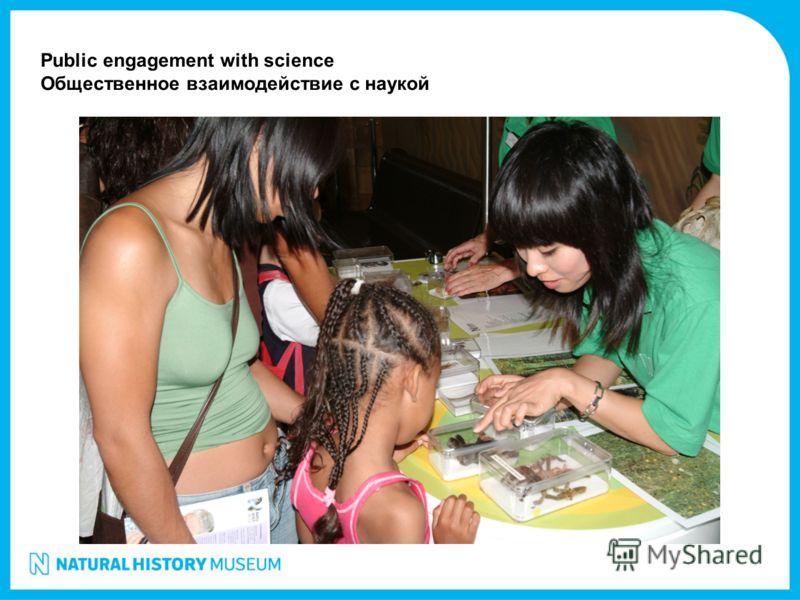 Public engagement with science Общественное взаимодействие с наукой