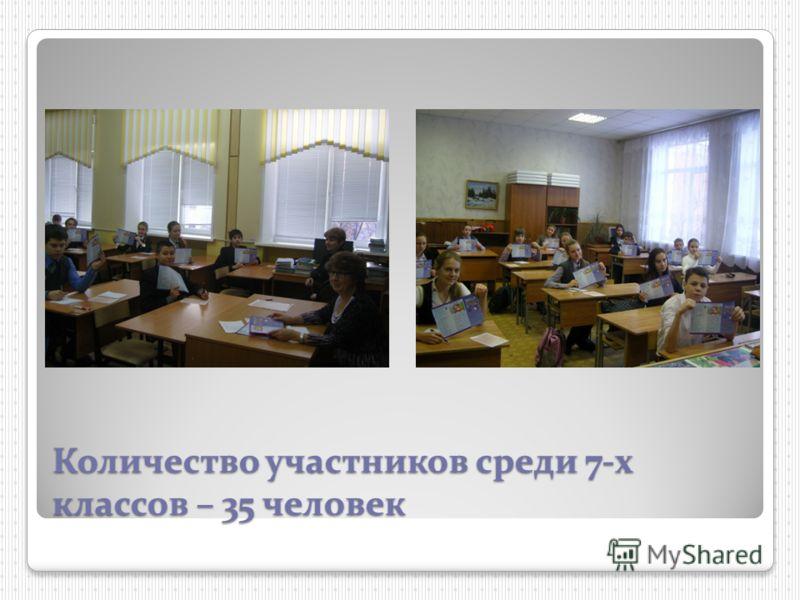 Количество участников среди 7-х классов – 35 человек