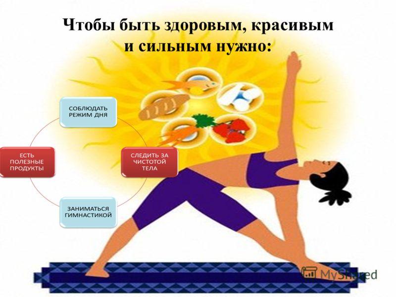 Чтобы быть здоровым, красивым и сильным нужно: