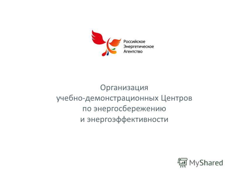 Организация учебно-демонстрационных Центров по энергосбережению и энергоэффективности