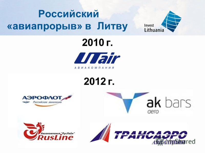 Российский «авиапрорыв» в Литву 2012 г. 2010 г.