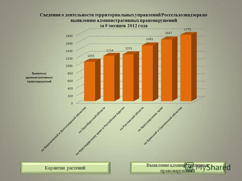 Выявление административных правонарушений Карантин растений