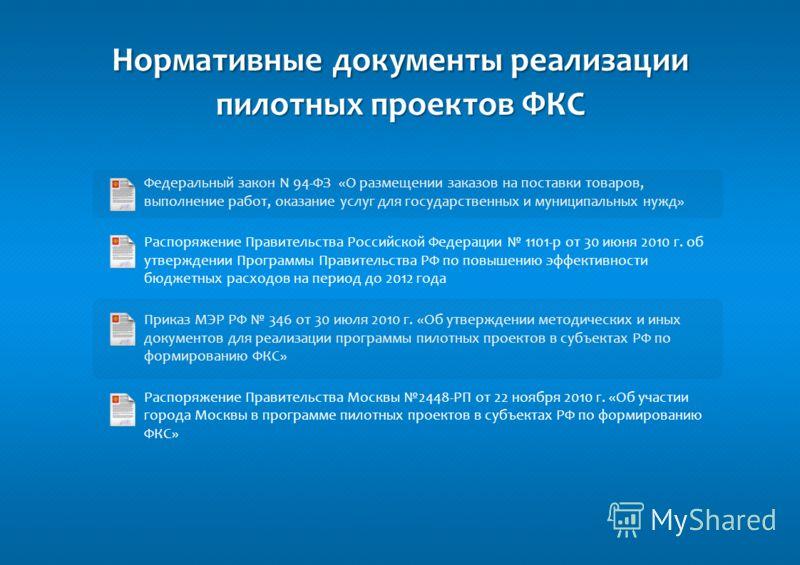 Роль Единой автоматизированной информационной системы торгов города Москвы (ЕАИСТ) в рамках реализации пилотного проекта Федеральной контрактной системы