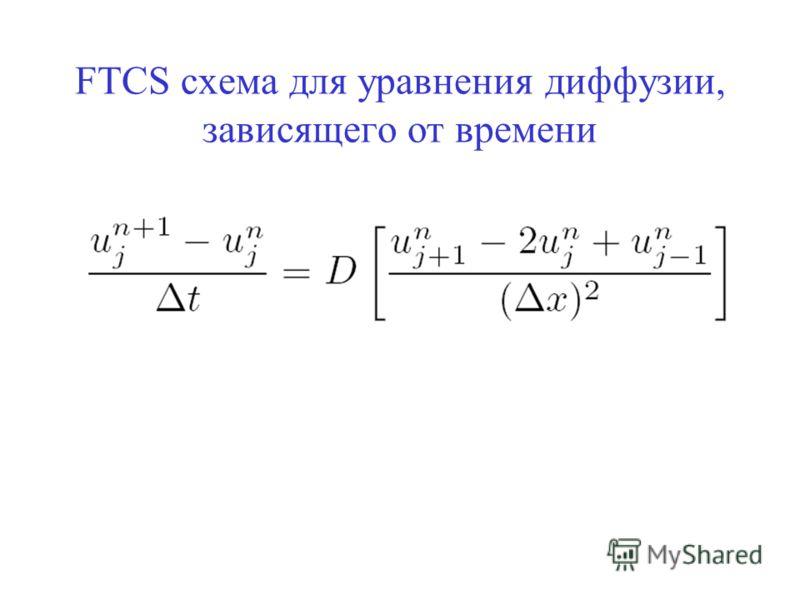 FTCS схема для уравнения