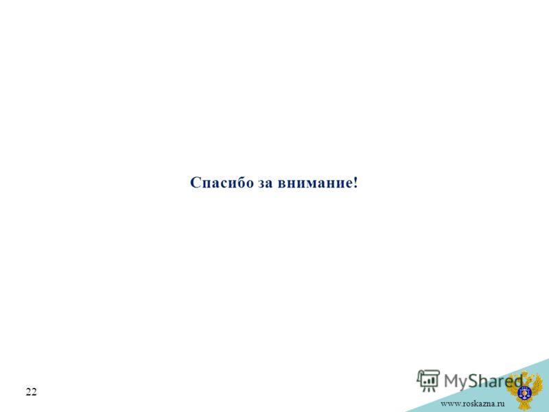 www.roskazna.ru Спасибо за внимание! 22