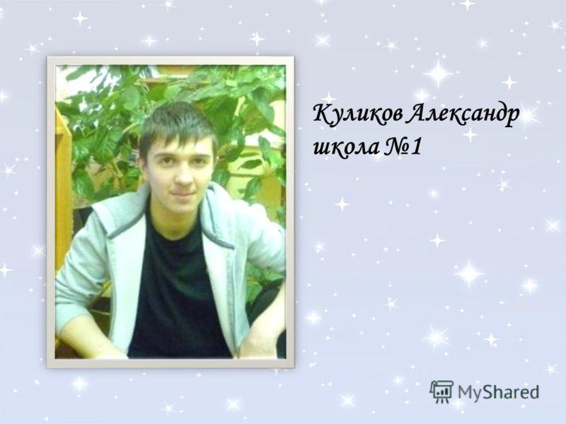 Куликов Александр школа 1