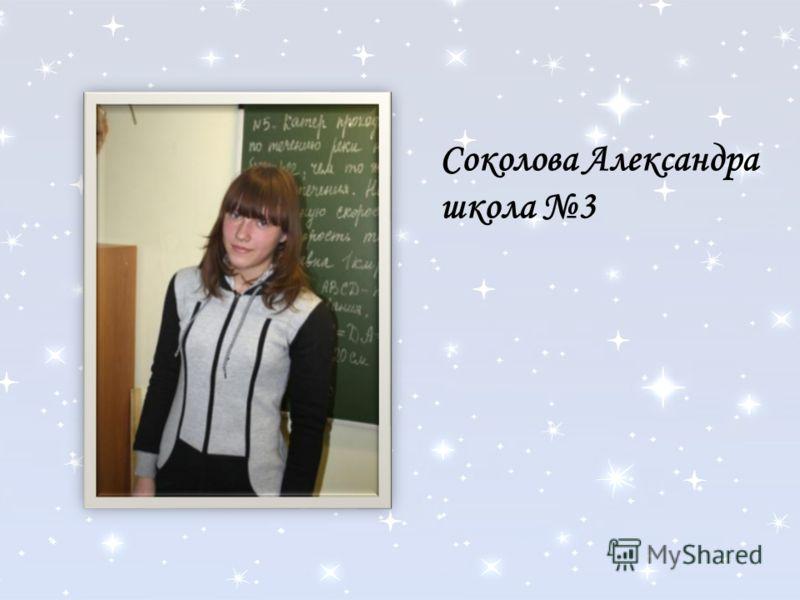 Соколова Александра школа 3