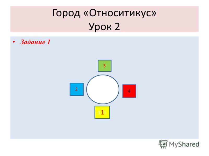 Город «Относитикус» Урок 2 Задание 1 2 3 4 11!11!
