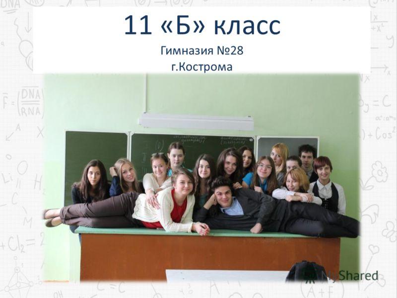 11 «Б» класс Гимназия 28 г.Кострома