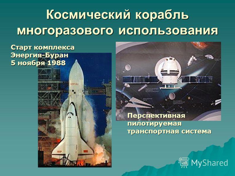 Космический корабль многоразового использования Перспективная пилотируемая транспортная система Старт комплекса Энергия-Буран 5 ноября 1988