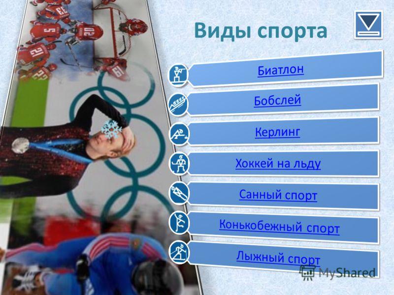 Зимние олимпийские игры Виды спорта на зимних Олимпийских играх