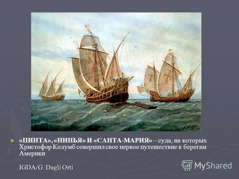 «ПИНТА», «НИНЬЯ» И «САНТА-МАРИЯ» – суда, на которых Христофор Колумб совершил свое первое путешествие к берегам Америки IGDA/G. Dagli Orti
