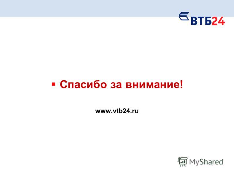 Спасибо за внимание! www.vtb24.ru
