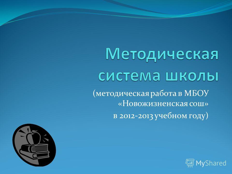 (методическая работа в МБОУ «Новожизненская сош» в 2012-2013 учебном году)