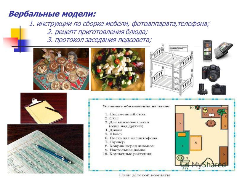 Информационные модели – представляют объекты и процессы в форме схем, чертежей, карт