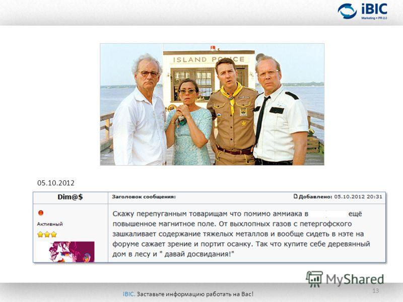 13 05.10.2012 iBIC. Заставьте информацию работать на Вас!