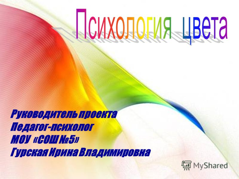 Руководитель проекта Педагог-психолог МОУ «СОШ 5» Гурская Ирина Владимировна