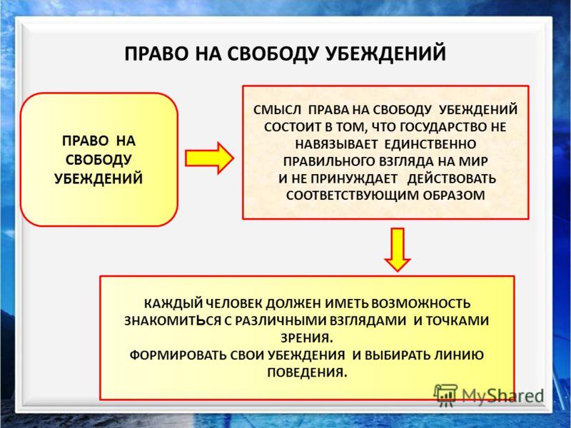 Объяснить, что вы понимаете под выражением «свобода убеждений» Конституция РФ Всеобщая Декларация прав человека Статья 29 Статья 19