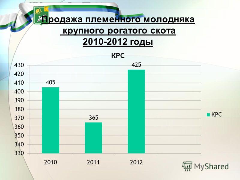 Продажа племенного молодняка крупного рогатого скота 2010-2012 годы