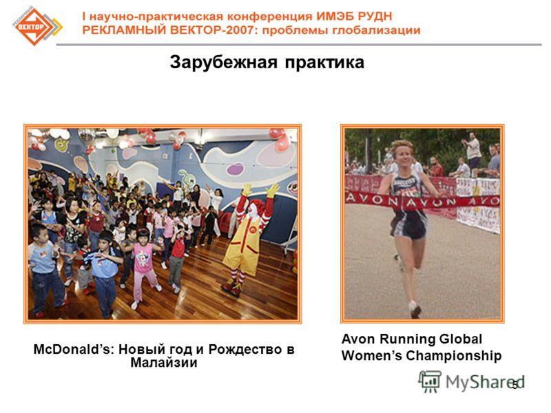 5 Зарубежная практика McDonalds: Новый год и Рождество в Малайзии Avon Running Global Womens Championship