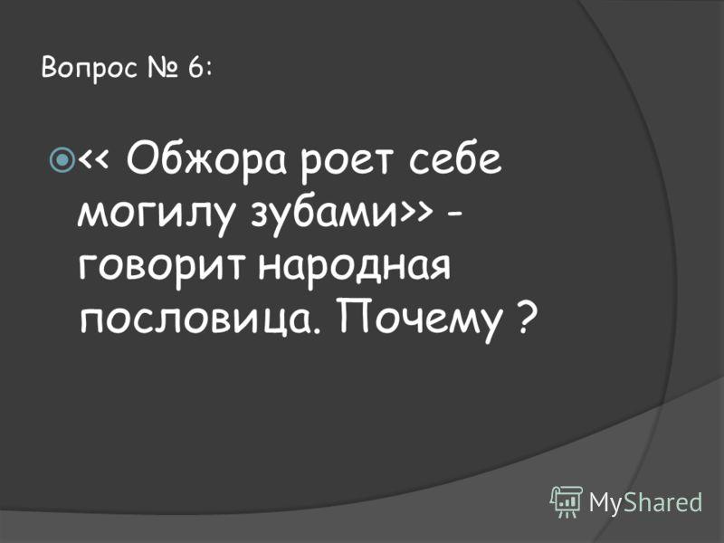Вопрос 6: > - говорит народная пословица. Почему ?