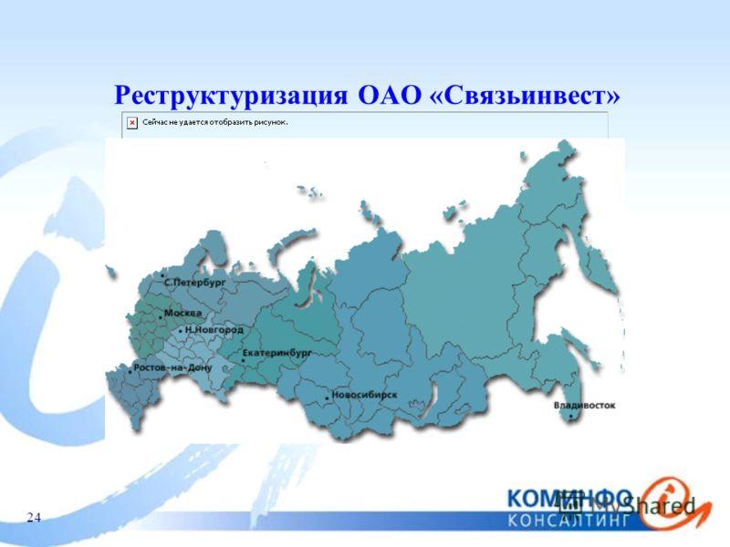 24 Реструктуризация ОАО «Связьинвест»