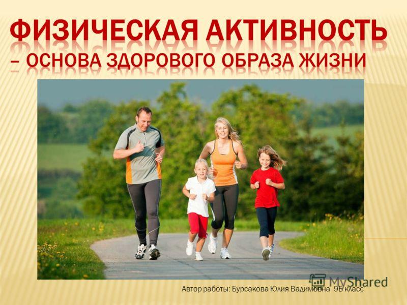 Автор работы: Бурсакова Юлия Вадимовна 9Б класс