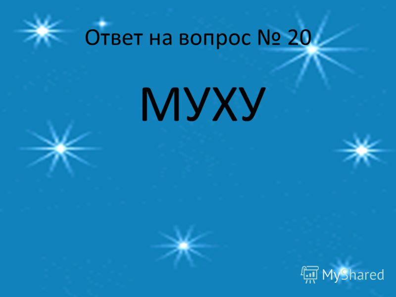 Ответ на вопрос 20 МУХУ