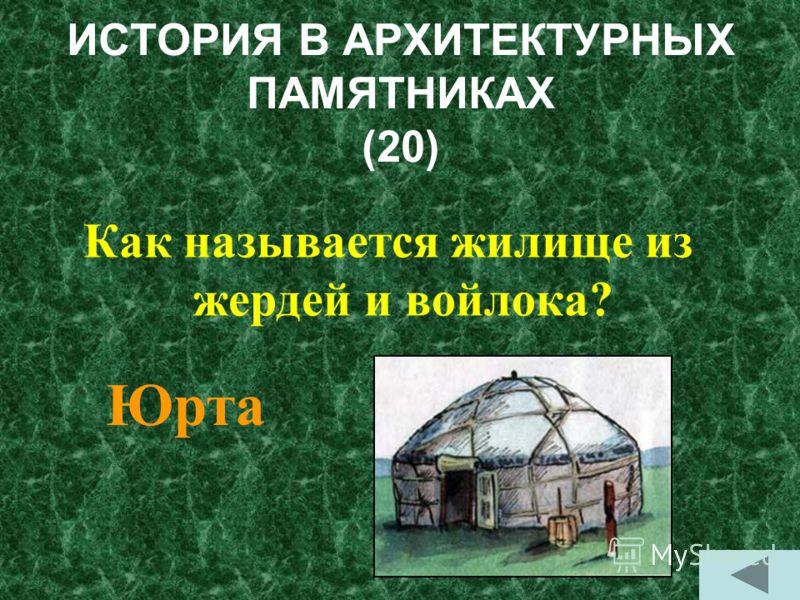 ИСТОРИЯ В АРХИТЕКТУРНЫХ ПАМЯТНИКАХ (10) Каким было первое жилище человека? П Пещера Грот