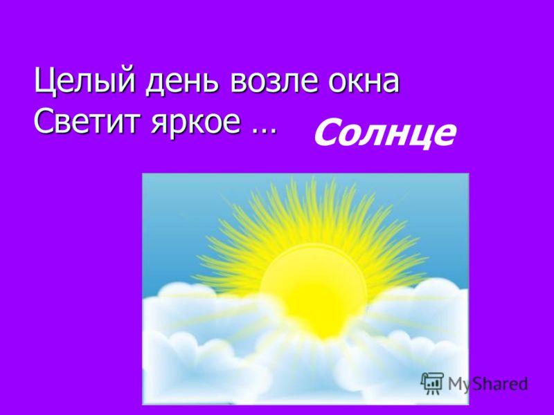 Целый день возле окна Светит яркое … Солнце