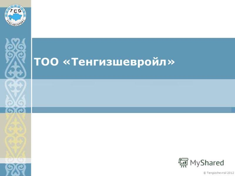 © Tengizchevroil 2012 ТОО «Тенгизшевройл»