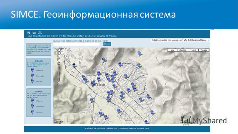 SIMCE. Геоинформационная система