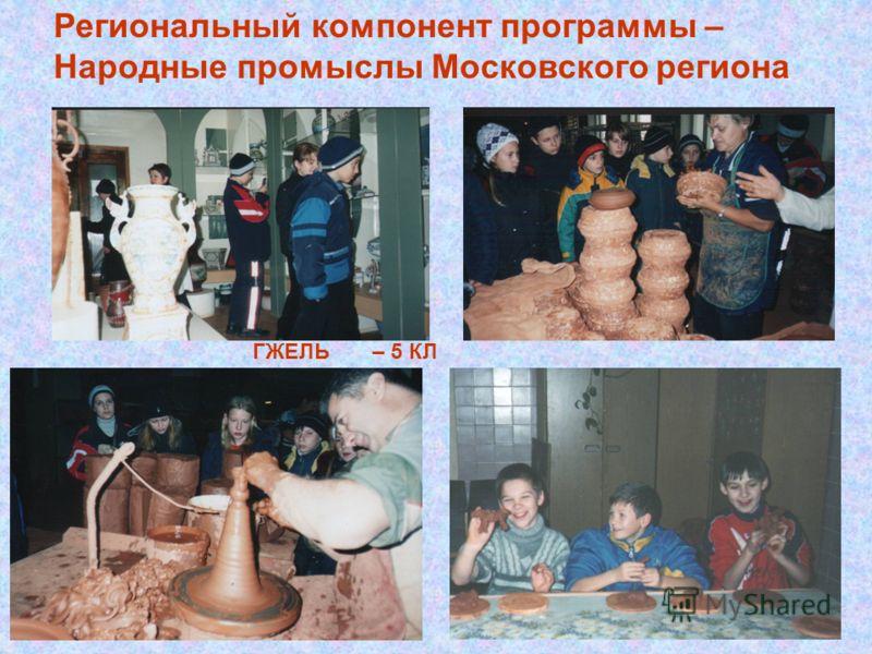 Региональный компонент программы – Народные промыслы Московского региона ГЖЕЛЬ – 5 КЛ