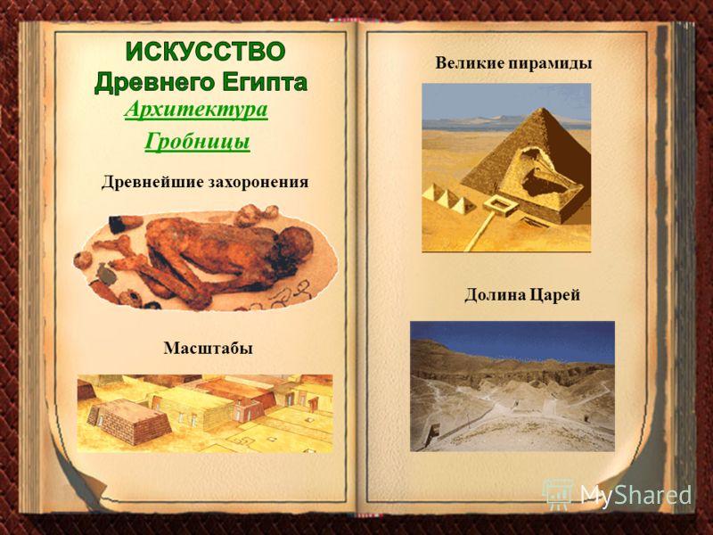 Архитектура Гробницы Масштабы Великие пирамиды Долина Царей Древнейшие захоронения