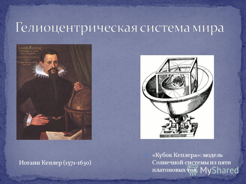 «Кубок Кеплера»: модель Солнечной системы из пяти платоновых тел. Иоганн Кеплер (1571-1630)